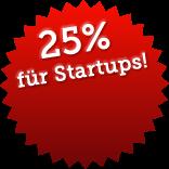 25 Prozent Rabatt für Startups