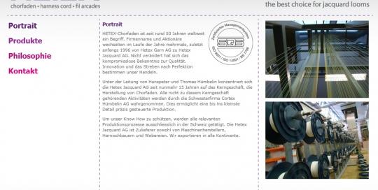 Hetex Jacquard AG, Website, Homepage, Programmierung, Entwicklung, Webdesign, Web, Internetauftritt, Firma, Unternehmen